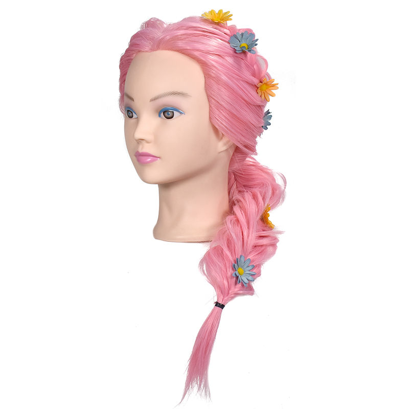 Professional Hair Training Model Cosmetology Hairdressing Practice Head Mannequin Dolls Salon Training Model