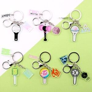 KPOP EXO GOT7 TWICE SEVENTEEN Keychain Bangtan Boys Key Chain Accessories Key Ring Cute Pendant Keyring Gifts