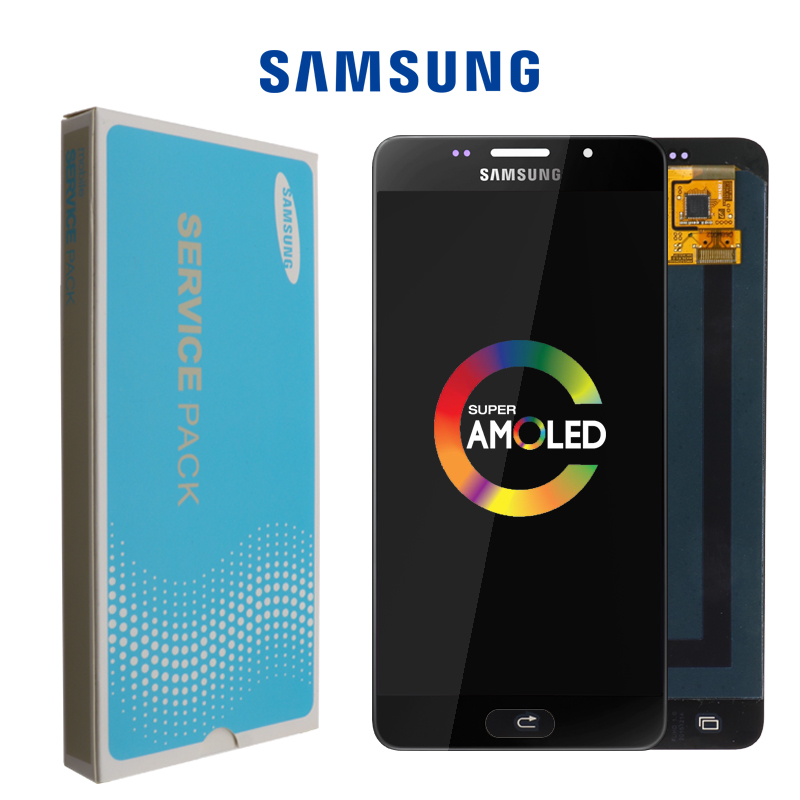 100% Test Super AMOLED <font><b>LCD</b></font> Display Touch Screen Digitizer Assembly for <font><b>Samsung</b></font> Galaxy A5 2016 <font><b>A510F</b></font> A510M A510FD A5100 A510Y <font><b>LCD</b></font> image