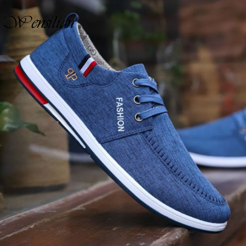 Non-Leather Casual Shoes Mens Canvas Shoes Breathable Sneakers Male Flats Shoes Fashion Driving Shoes For Men Tenis Masculino