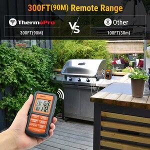 Image 2 - ThermoPro TP 08Sเครื่องวัดอุณหภูมิแบบไร้สายระยะไกลจาก300ฟุตครัวBBQ Smoker Grillเตาอบ