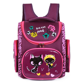 Orthopedic School Backpacks For Girls Cartoon Cat Primary School Bags 5-7Y Children Backpack School Bookbag Kids satchel Boy Bag 1
