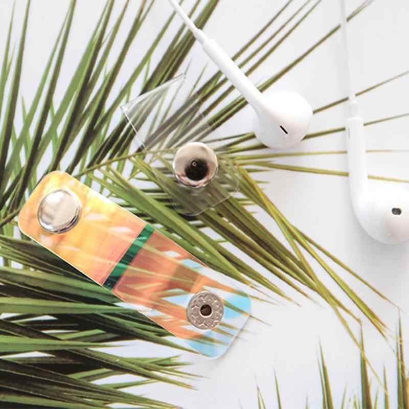 ALLOYSEED Oordopjes Datakabel Line Opslag Clip Drukknoop Winder Oortelefoon Data Wire Protector Holder Organizer
