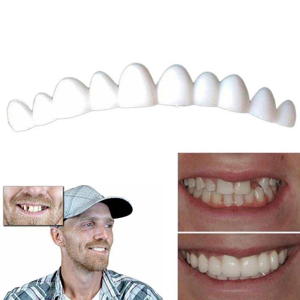 1 Piece Of Silicone Simulated Tooth Braces Smile Toothpaste Ultra-thin White Porcelain Tooth Veneer Dental Care