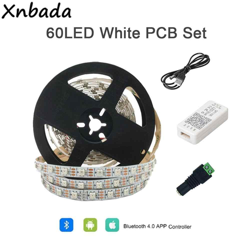 DC5V WS2812B بلوتوث وحدة تحكم USB LED قطاع 5050 RGB تطبيق تحكم فردي عنونة بكسل شرائط مجموعة