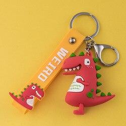 Dinosaurus Cool Hanger Auto Creatieve Sleutelhanger Pop Schooltas Leuke Mannen En Vrouwen Suo Chi Lian Hoepel Tas Ornament