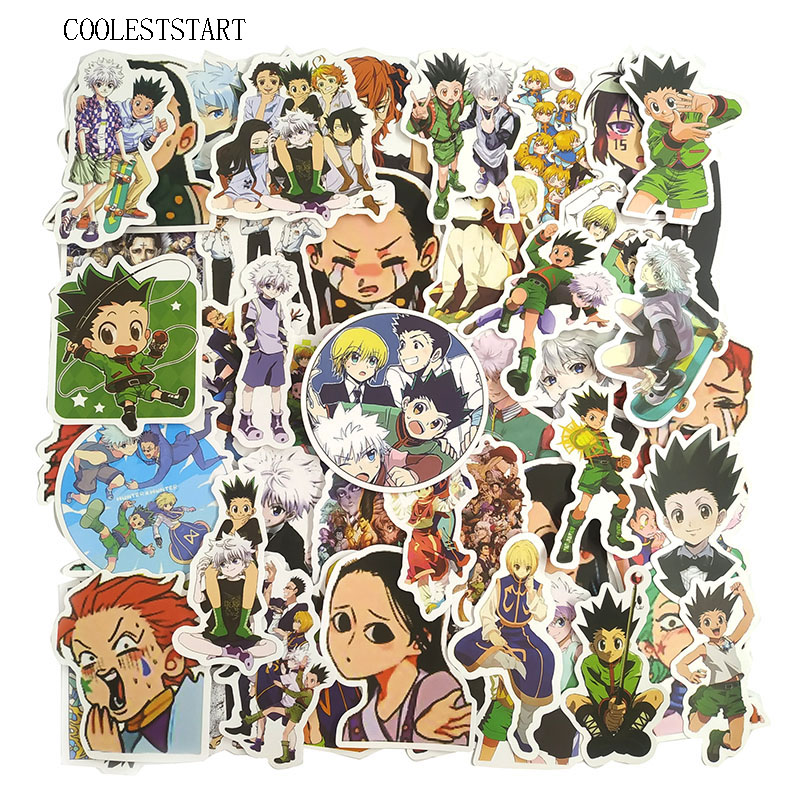 50Pcs/pack Hunter X Hunter Anime Stickers For Motorcycle Luggage Laptop Skateboard Refrigerator Bicycle Car Toys Travel Sticker