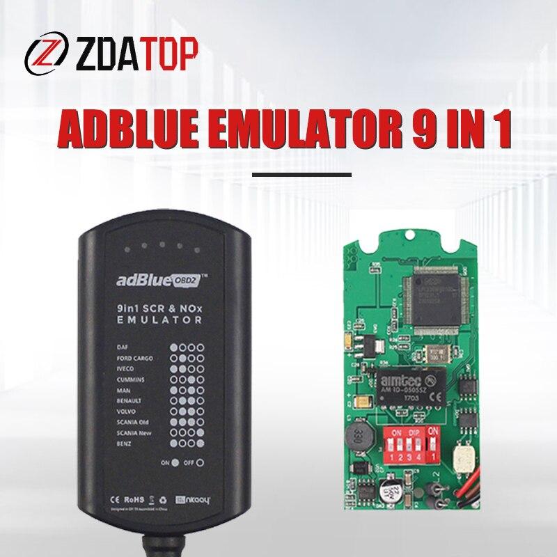 Эмулятор Adblue ADBLUE 9 в 1 для грузовика с датчиком Nox, адаптер для программирования, эмулятор Adblue 9 в 1, инструмент для диагностики грузовика