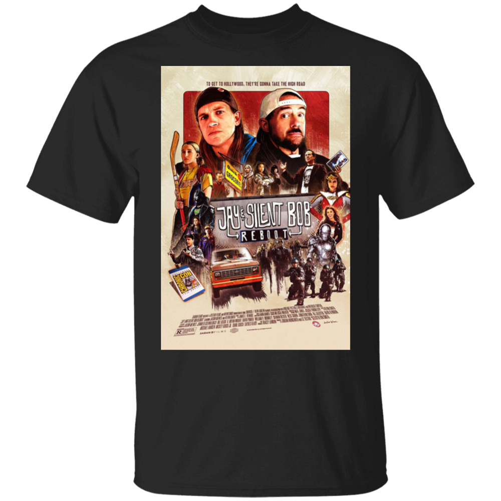 Jay And Silent Bob Reboot (2019) Movie Tv Black T-Shirt M-Xxxl Summer Style Tee Shirt