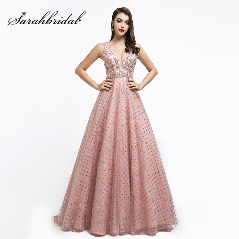 Newest Dubai Ball Gown Celebrity Dresses Special Gold Pouring Fabric Evening Party Gowns Women Shining Red Carpet Dress L5508