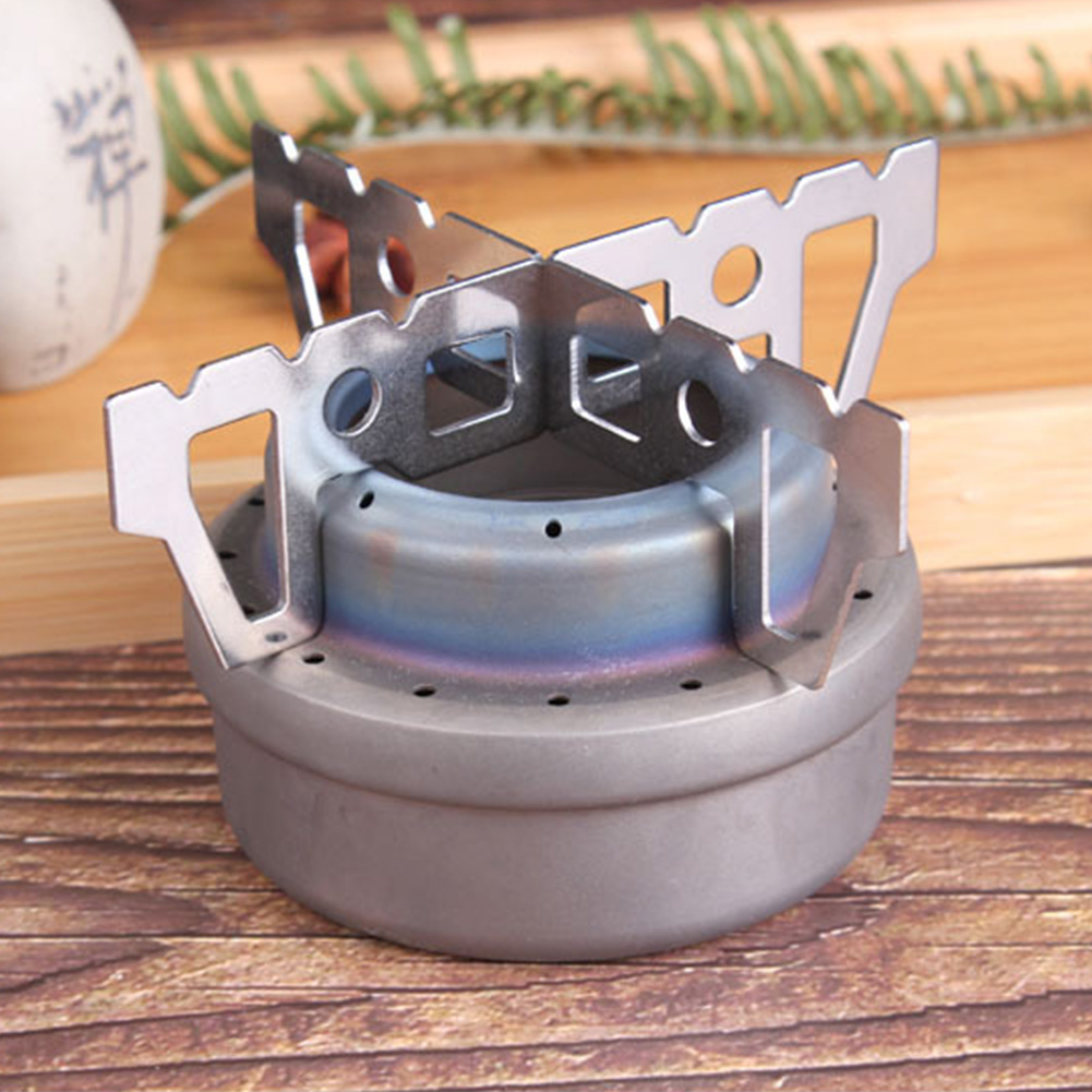 2pcs/set Detachable Cross Type Hiking Durable Picnic Barbecue Portable Outdoor Ultralight Stainless Steel Alcohol Stove Holder