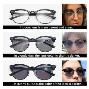 Image 5 - AEVOGUE fotokromik gözlük reçete çerçeve erkekler optik gözlük kadın gözlük Anti mavi ışık gözlük KS101