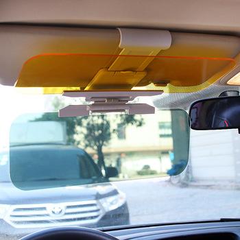 2 w 1 osłona przeciwsłoneczna do samochodu HD przeciw promieniowaniu słonecznemu olśniewające gogle dzień Night Vision do jazdy lustrzane UV Fold Flip Down dla jasnego widoku Visor tanie i dobre opinie EAFC HD Anti Sunlight Universal Car China Driving glass Mirror 2018 new Support