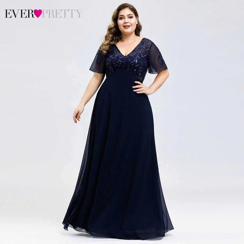 Vestidos de talla grande Madre de la novia vestidos siempre bonitos con lentejuelas cuello en V Kurti elegantes trajes para la cena Vestido Da Mona Da Noiva