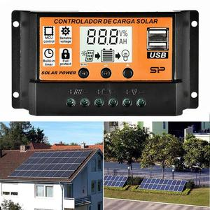 10A/20A/30A/40A/50A/100A Auto Solar Charge Controller Dual USB USB 12V24V Regulator Voltage Panel Solar Power LCD Charger D F3X5