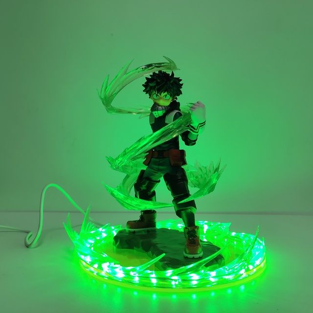 My Hero Academia Izuku Bakugou Todoroki Shoto URARAKA Led Power Effect Action Figure Toys Anime Boku no Hero Academia Figurine
