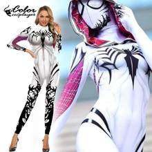 Colore Cosplayer Spider Costume Cosplay Gwen Stacy Amazing Spider Donne Purim Carnevale Tuta di Halloween Vestiti Del Partito(China)