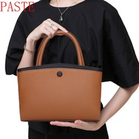 Paste Genuine leather messenger bags handbags tote on sale