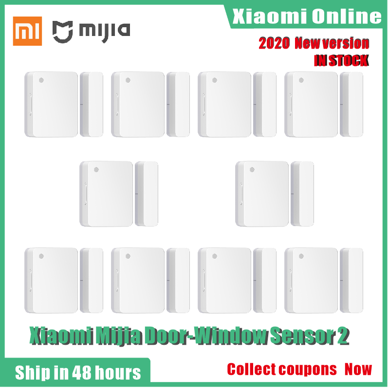 2020nuevo Xiaomi Mijia Sensor de ventana de puerta 2 Mini Sensor inteligente de puerta tamaño de bolsillo Control automático de casa inteligente para la aplicación Mi Home