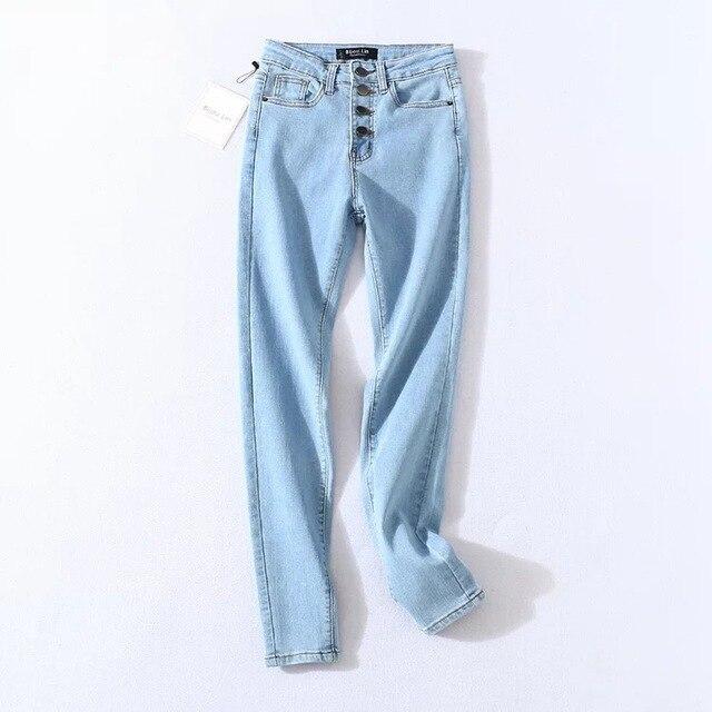 Four Buttons High Waist Pencil Jeans  3