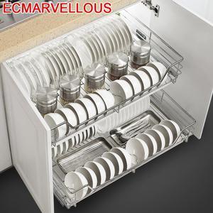 Image 1 - Armario spiżarnia Rangement Organizer i Despensa Gabinete ze stali nierdzewnej Cozinha kuchnia stojak kuchnia do przechowywania w szafce kosz