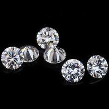 Fabricante 1mm-3mm 50 pces redondos frouxos moissanite def cor vvs clareza moissanite qualidade melhor branco moissanite diamantes