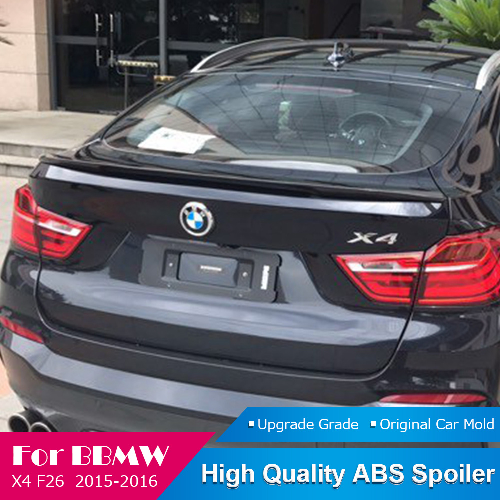 Fit For <font><b>BMW</b></font> <font><b>F26</b></font> X4 Black <font><b>Spoiler</b></font> 2015 2016 High Quality ABS Material Car Rear Wing Primer Color Rear White <font><b>Spoiler</b></font> Car Styling image