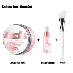 Sakura Face Care Sakura Mud Mask + Serum for Face and Body Purifying Face Mask for Acne Blackheads and Oily Skin