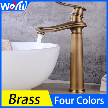 Basin Faucet Toilet Single Handle Brass Heightening Faucet Bathroom Sink Single Hole Hot and Cold Water Faucet