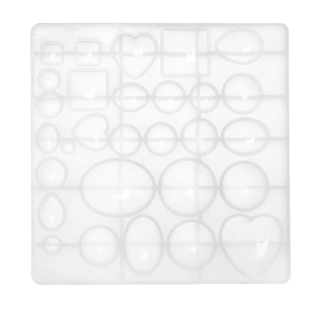 ซิลิโคนเรซินแม่พิมพ์หล่อรอบรูปไข่รูปหัวใจอีพ็อกซี่แม่พิมพ์สำหรับ DIY เรซิ่นหัตถกรรมเครื่องประดับผลการค้นหาอุปกรณ์เสริม 5 รูปร่าง