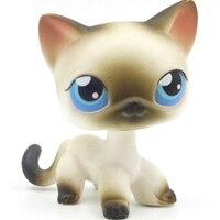 Лпс стоячки кошки Игрушки для кошек lps, редкие подставки, маленькие короткие волосы, котенок, розовый#2291, серый#5, черный#994,, коллекция фигурок для питомцев - Цвет: 5
