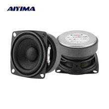 AIYIMA 2 adet taşınabilir hoparlörler 53MM 4 Ohm 15W tam aralıklı ses hoparlörü Mini hoparlör ev sineması için DIY