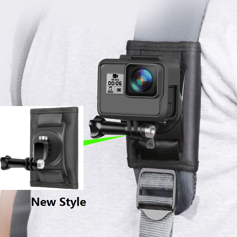 Clownfish Quick Attach Backpack Bag Clip Buckle For Xiaomi Yi 4K Mijia Gopro Hero 345678 Sjcam SJ5000 SJ6/8/9 Pro/Max H9R Camera