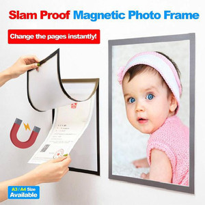 Photo Frame A4 Magnetic Cadre Picture Baby Slam Proof Magnetic Photo Refrigerator Pvc Wall Decoration Porta Retrato Marco Foto