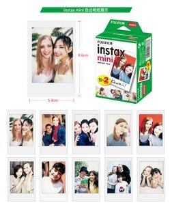 Image 2 - 10 200 arkuszy Fuji Fujifilm instax mini 11 9 8 filmów biała krawędź 3 Cal film dla aparat natychmiastowy mini 8 9 7s 25 50s 90 papier fotograficzny