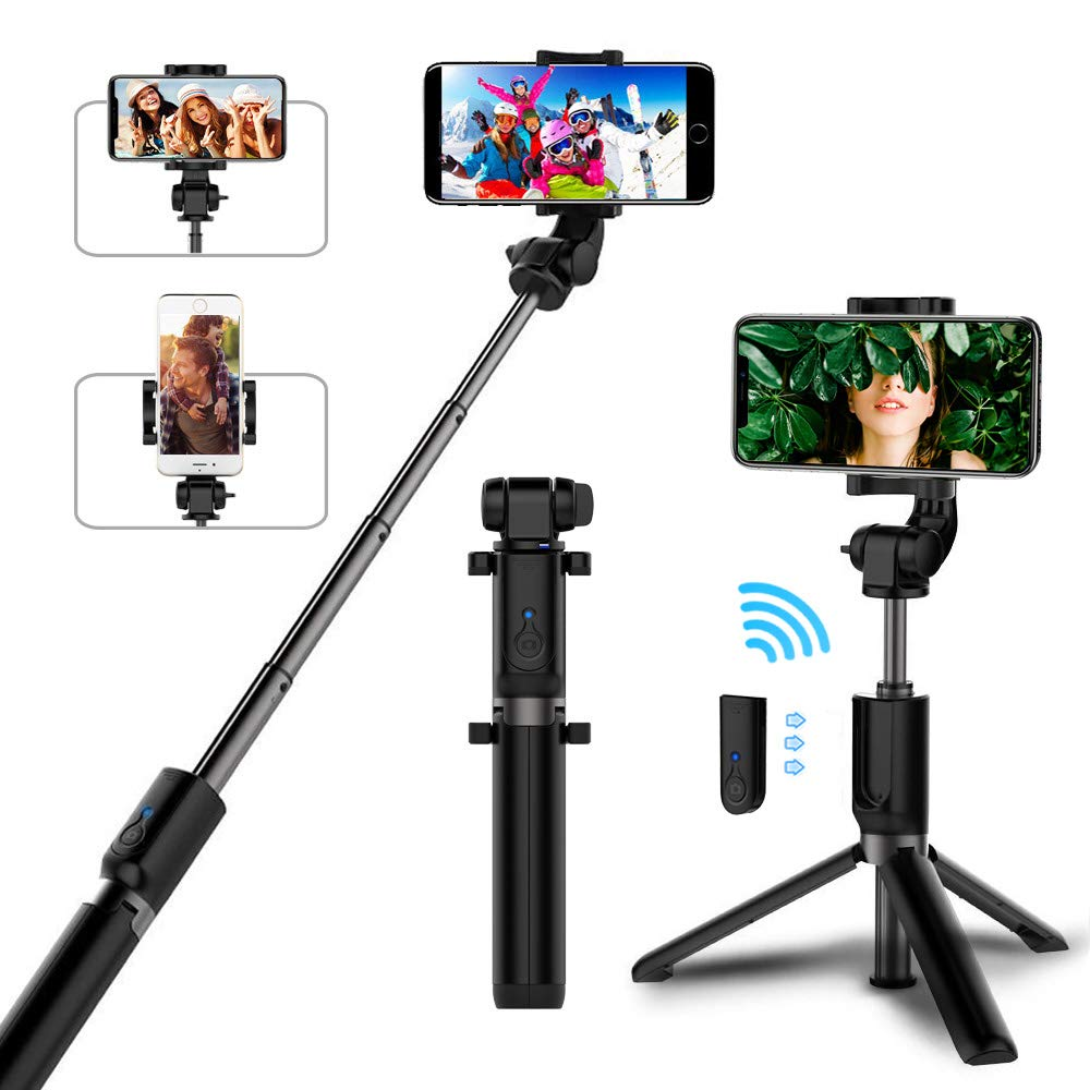 Selfie-Stick Tripod Bluetooth Huawei IPhone Samsung With Alloy