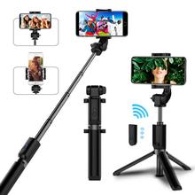 цена Bluetooth selfie stick with tripod Plastic Alloy self stick selfiestick phone smartphone selfie-stick for iphone samsung huawei онлайн в 2017 году