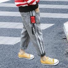 ชายกางเกงฤดูใบไม้ผลิฤดูใบไม้ร่วงบางส่วนกางเกงยีนส์กางเกงยีนส์กางเกงขายาวเด็กสบายๆกางเกง 3 12 เสื้อผ้าเด็ก