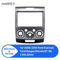 Harfey Auto Audio Radio Fascia für Ford Everest Ford Ranger 2006-2010 2Din Auto Dashboard Rahmen Umrüstung CD-Player umrüstung Kit