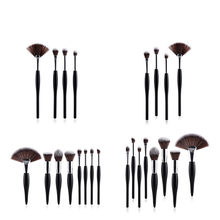 4/8/10 Luxury Make Up Brush Sets Foundation Blush Powder Highlighter Contour Brushes For Make Up Black White Handle Eyeset Brush(China)