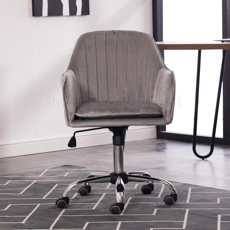 Computer Chair Household Scandinavian Desk Chair Fashion Office Chair Home Fabric Writing Chair Rotating Happy Swivel Chair