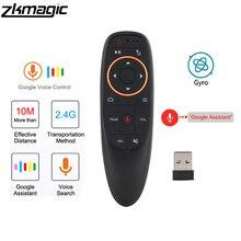 G10 Stimme Fernbedienung 2,4G Wireless Air Maus Mikrofon Gyroskop IR Lernen für Android tv box PRO H96Max X96 mini