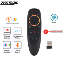 G10 Vocale A Distanza di Controllo 2.4G Wireless Air Mouse Del Microfono Giroscopio IR Learning per Android tv box PRO H96Max X96 mini