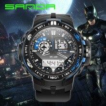 SANDA Часы мужские Студенческие электронные часы спортивные уличные подростковые Ночной светильник водонепроницаемые мужские модные часы для бега