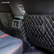 цена на Car Rear Seat Anti-Kick Pad Rear Seats Cover Back Armrest Protection Mat For Toyota Camry 2018 2019 Car Accessories