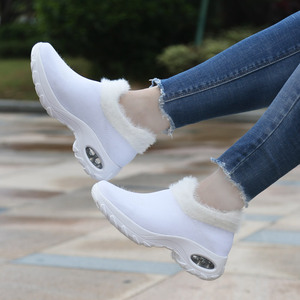 Image 4 - STQ Winter Women Sneakers Flats Platform Shoes Ladies Wedge Flats Sneakers Shoes Womens Lace Up Winter Casual Shoes ZJW2053