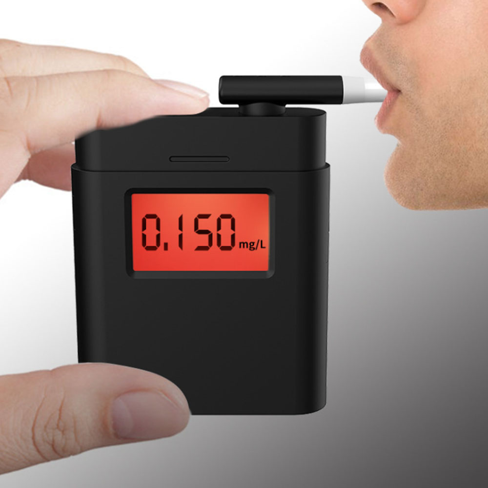 Handheld Digital Alcohol Tester Professional Police Breath Breathalyzer Breathalyser LCD