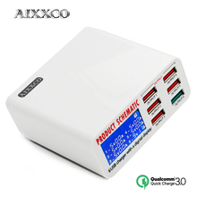AIXXCO For fast Charge 3.0 6 Ports Smart Mobile Phone Charger
