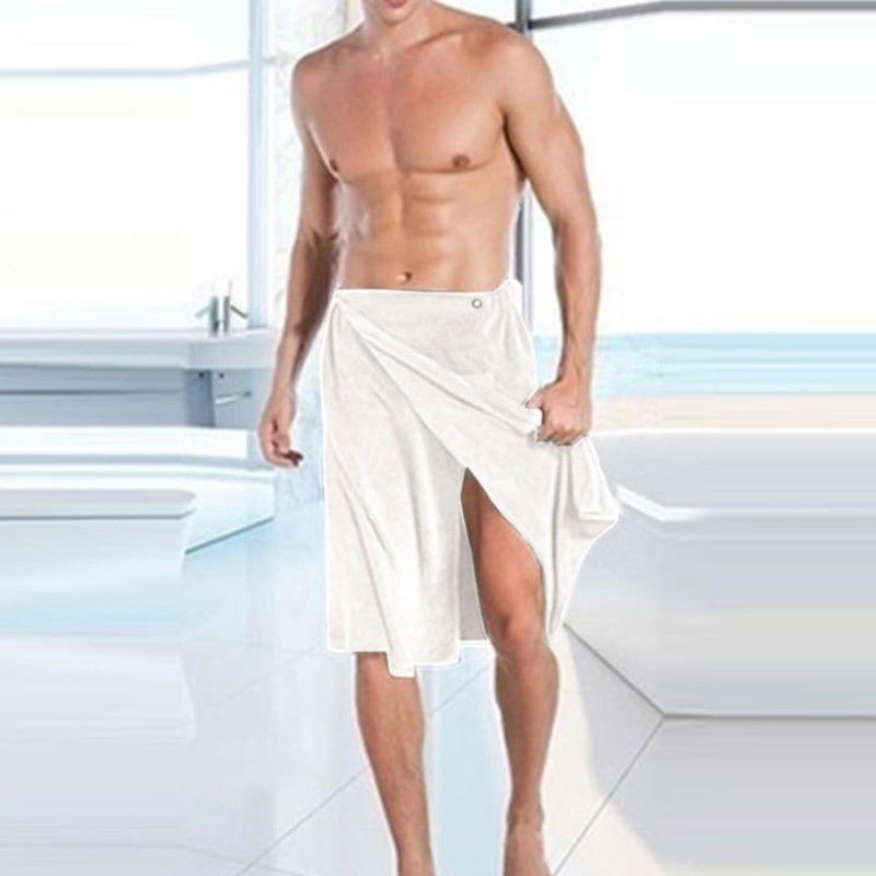 2019 New Hot Sale Men's Night Gown Adjustable Microfiber Shower Towel Men Pools Gyms Beaches Bathroom Bath Towel