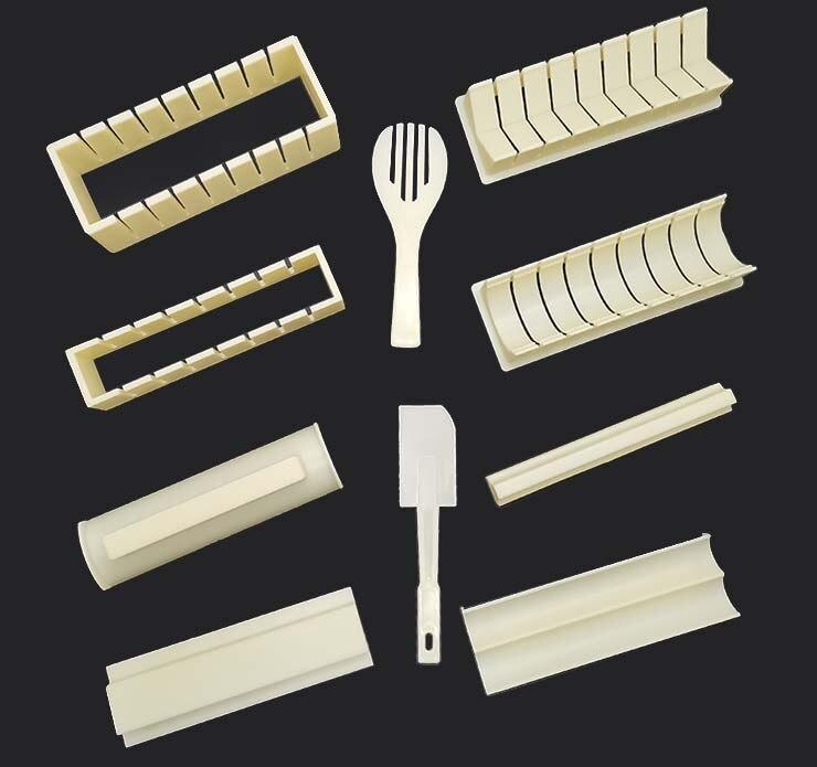 11 шт. DIY кухонные инструменты, суши-комплект, домашняя кухня, здоровые суши-ролл, набор инструментов для суши с 50 водорослями-4